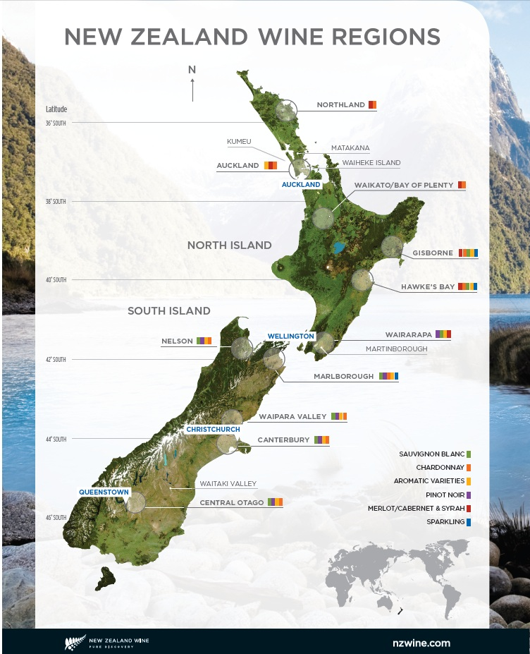 New Zealand Winegrowers, Weinregionen Neuseelands, Saint Clair Family Estate, Neuseeland, Wein, Vineshop24, Vineblog24, Marlborough